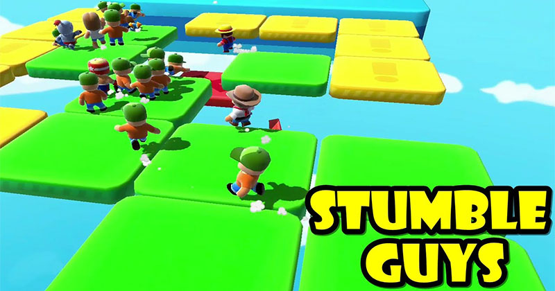Noob, Pro and Hacker gameplay on Stumble Guys Multiplayer Royale