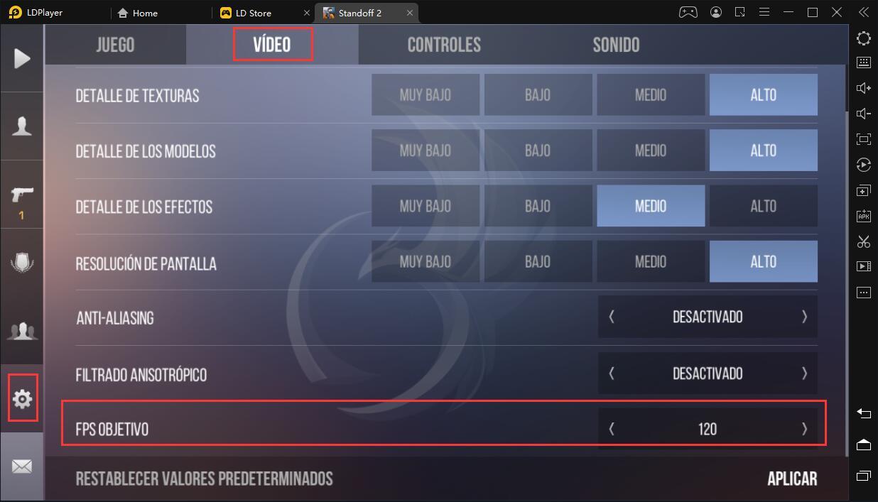 ¿Cómo jugar Standoff 2 a 120FPS en LDPlayer?
