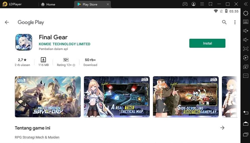 Install Final Gear di LDPlayer