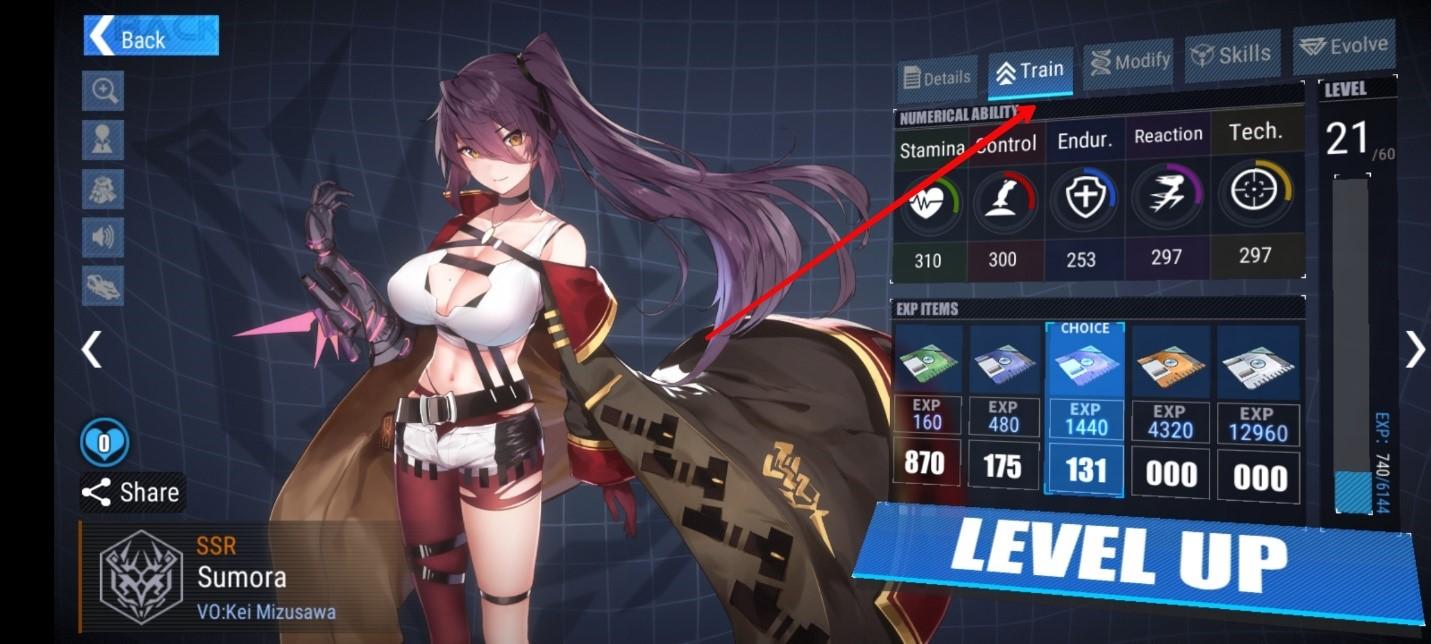 Menaikkan level waifu di Final Gear