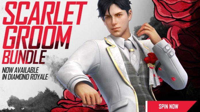 Garena Free Fire Diamante Royale começa alguma vez , veja como obter o pacote The Scarlet Groom em Free Fire?