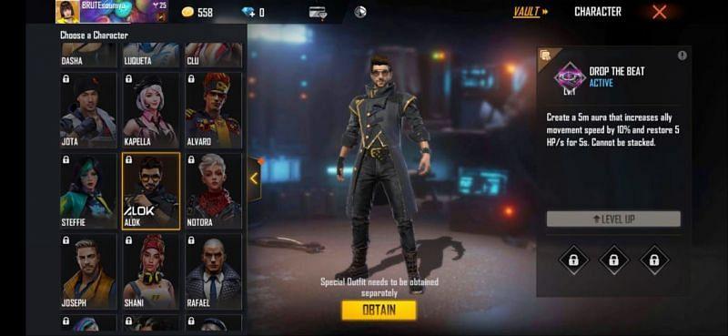 5 personagens mais caros do Free Fire após a última atualização