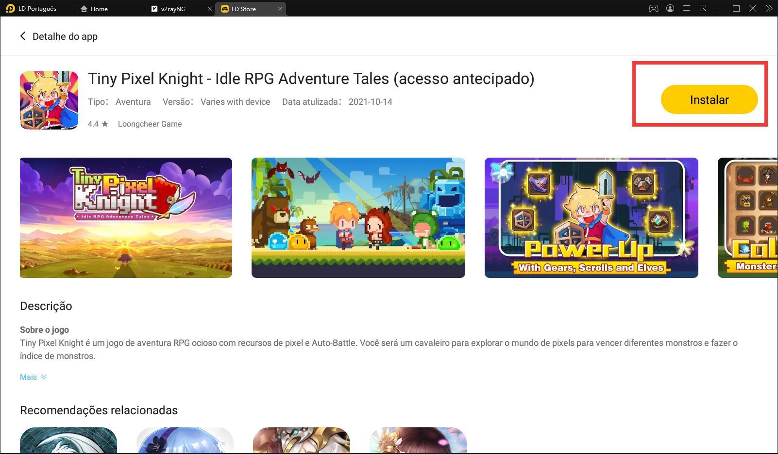 Tiny Pixel Knight:um RPG inativo disponível em teste beta para dispositivos Android