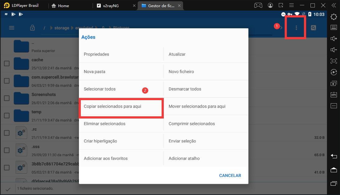 Como obter arquivos de APK de jogos ou aplicativos instalados no emulador ?