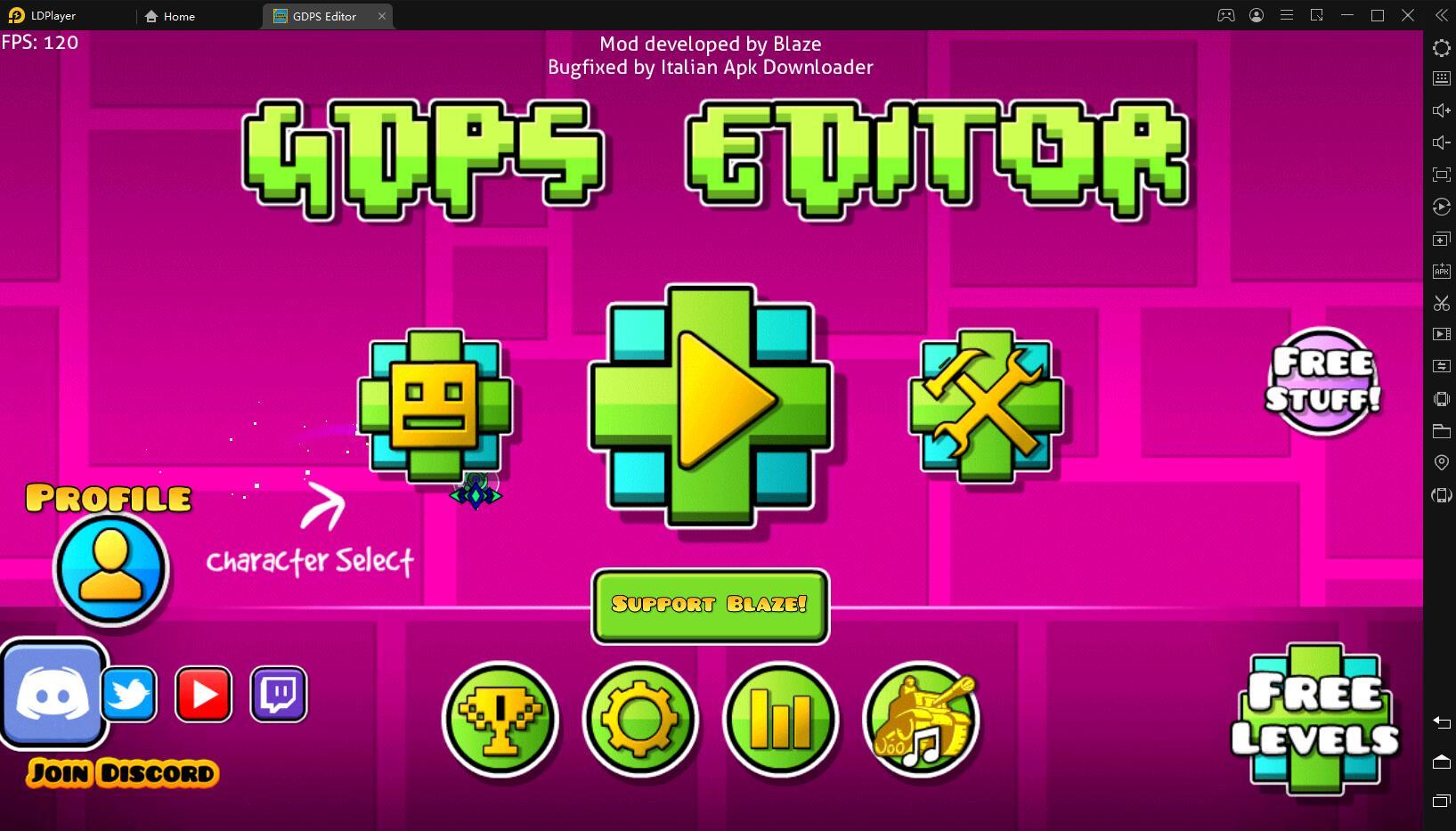 Играть в «Geometry Dash Editor/GDPS Editor» бесплатно на пк