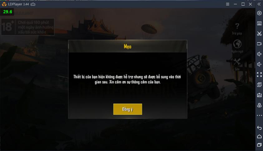 Hướng dẫn khắc phục lỗi Thiết bị không hỗ trợ khi chơi PUBG MOBILE
