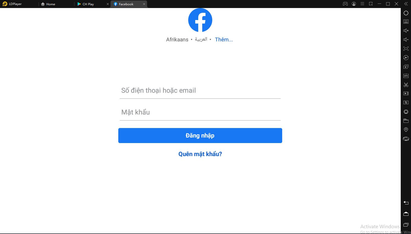 Cách khắc phục lỗi không đăng nhập được game bằng tải khoản Facebook