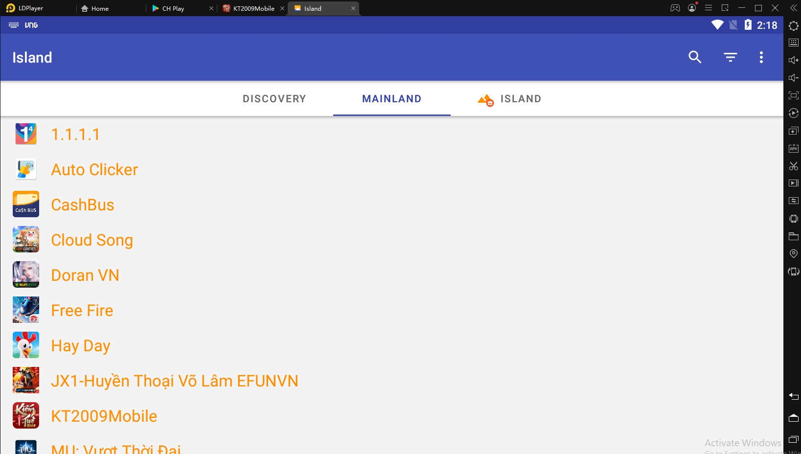 LDPlayer đã khắc phục lỗi không tương thích app Island