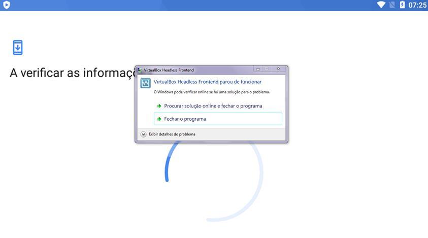 """Como resolver """"VirtualBox Headless Front..."""
