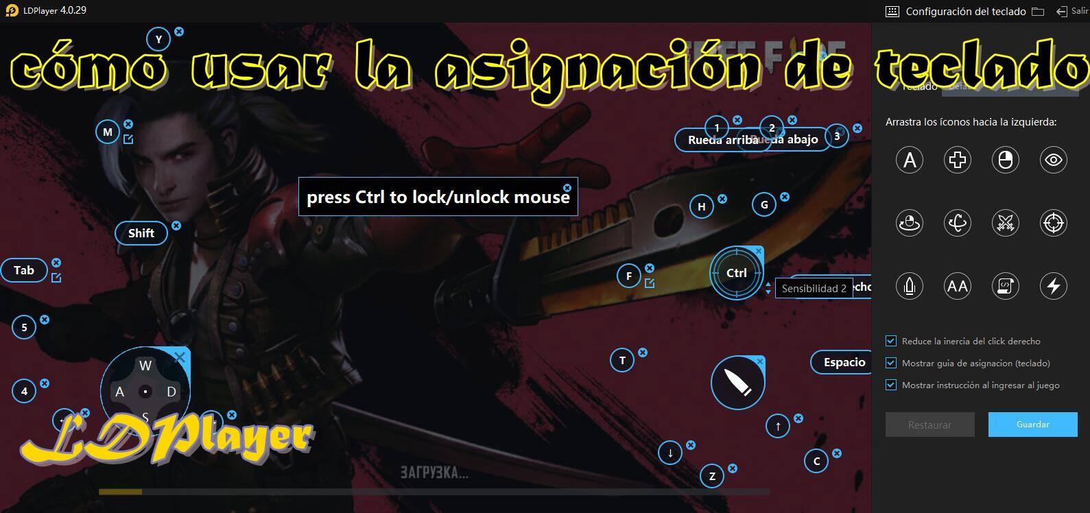 Asignación de teclas en el emulador: cómo usar la asignación de teclado